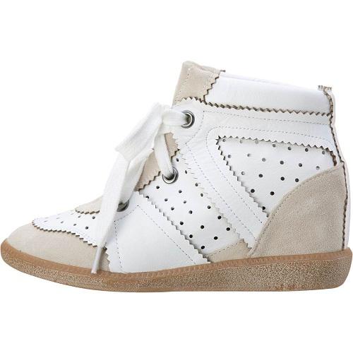 Isabel Marant Bekket Sneakers Suede High Top White Blanc Gris